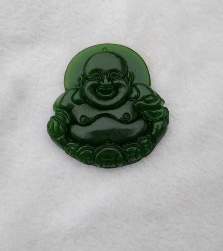 Xinjiang Hotan colgante de jade natural de Buda sano y salvo B1 de China