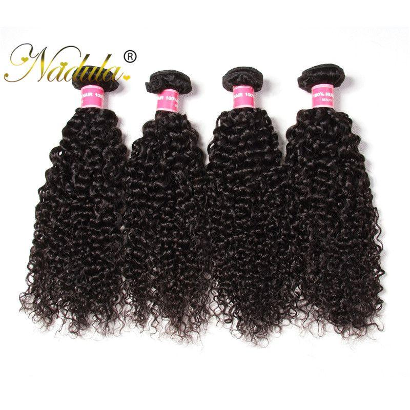 Nadula 8a Virgin Human Hair Brazilian Curly Wave 4 Bundles Hair