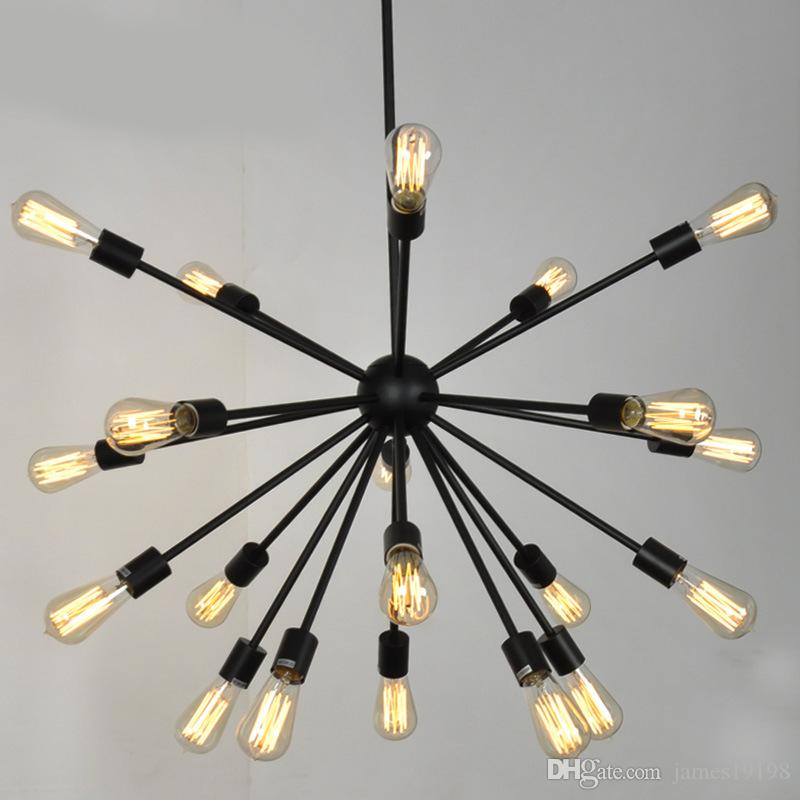 Modern wrought iron artificial satellite chandelier creative spider 12/18/20 Lamps For living room dining room decor Bar G120