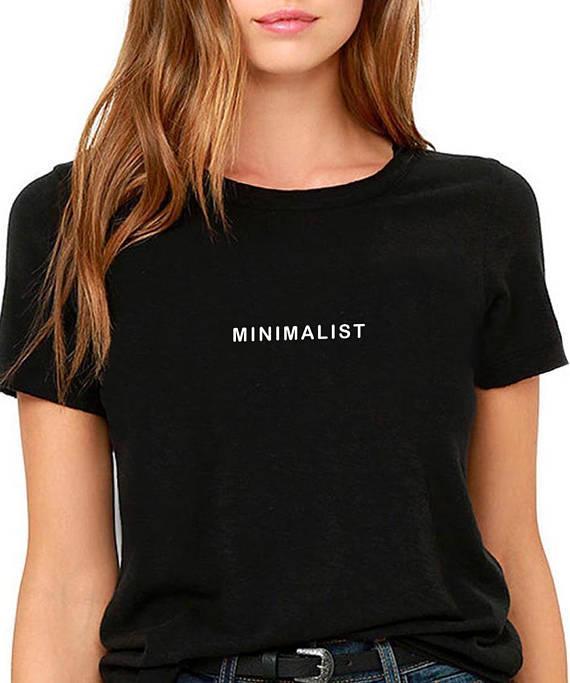 Grosshandel Das T Stuck Der Frauen Minimalistisches Tumblr T Shirt