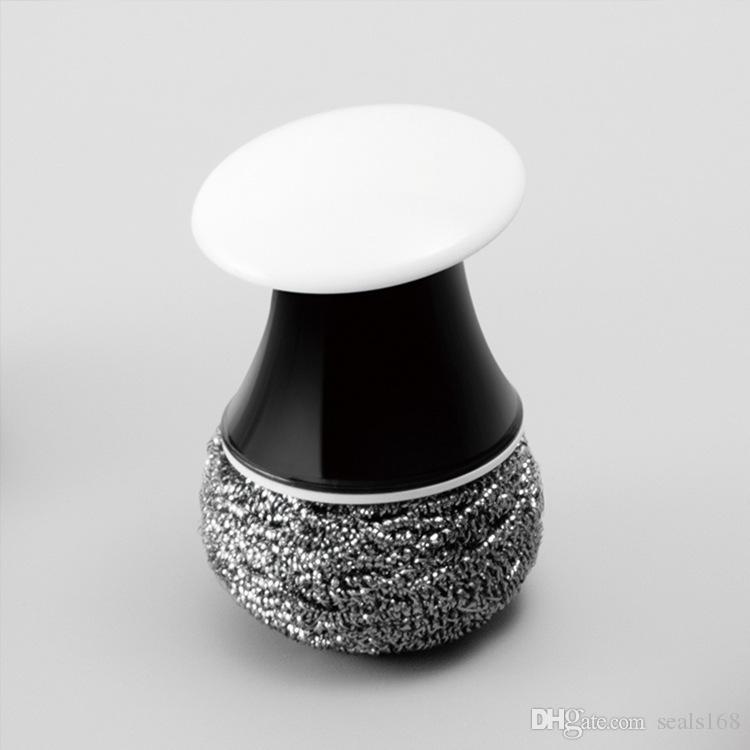 Pinceaux de nettoyage créatifs brosse à bille en fil de cuisine bol à laver bol bol brosse à plat outils de nettoyage en acier inoxydable boule de nettoyage HH7-386