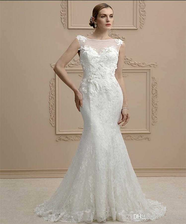 Sweetheart A Line Fit And Flare Backless White Lace Trumpet Style Mermaid Off The Shoulder Wedding Dresses