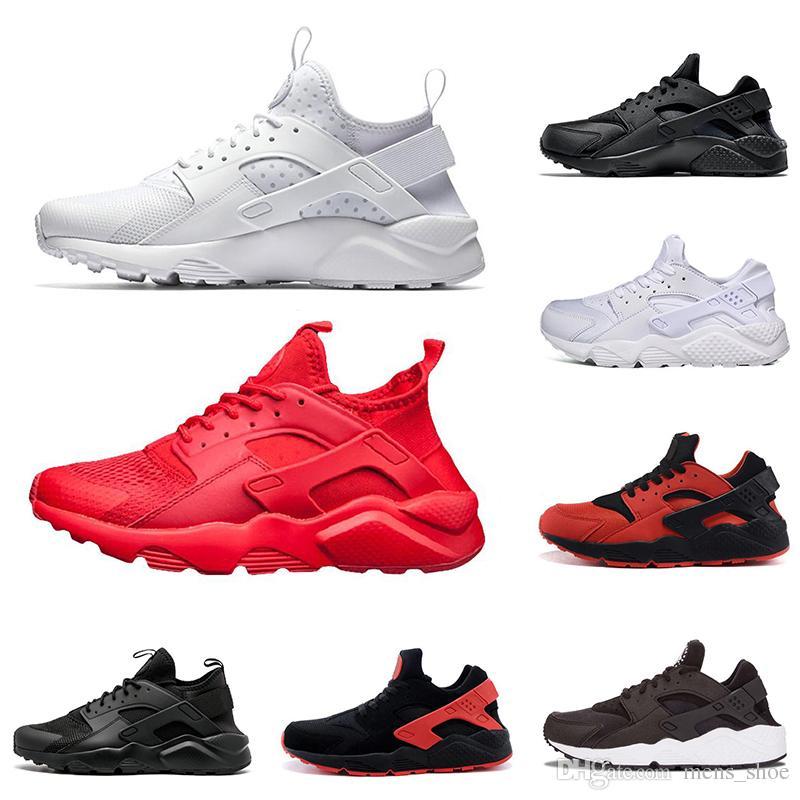 designer fashion 9bcc2 6ce6b Acquista Nike Air Huarache Vendita Calda Air Huarache Uomo Scarpe Da Corsa  Tutto Rosso Triple Bianco Nero Oro Nero Bianco Rosso Nero Donna Sneakers Da  ...