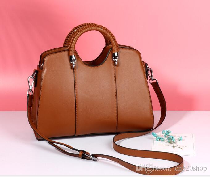 Women Fashion Handbags Casual Tote 30CM 2018 New Style Vintage Female  Handbags Real Leather Evening Party Casual Shell Bags Crossbody Bags Totes  Bags ... 532497a8e3e5a