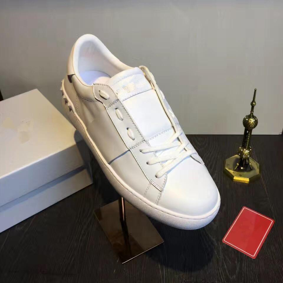 a566168f9e6 Small White Band Lady Comfort Casual Dress Shoe Sport Sneaker Mens Casual  Leather Shoes Designer Womens Sports Walking Trainers Lowtop Loafers Mens  Boots ...