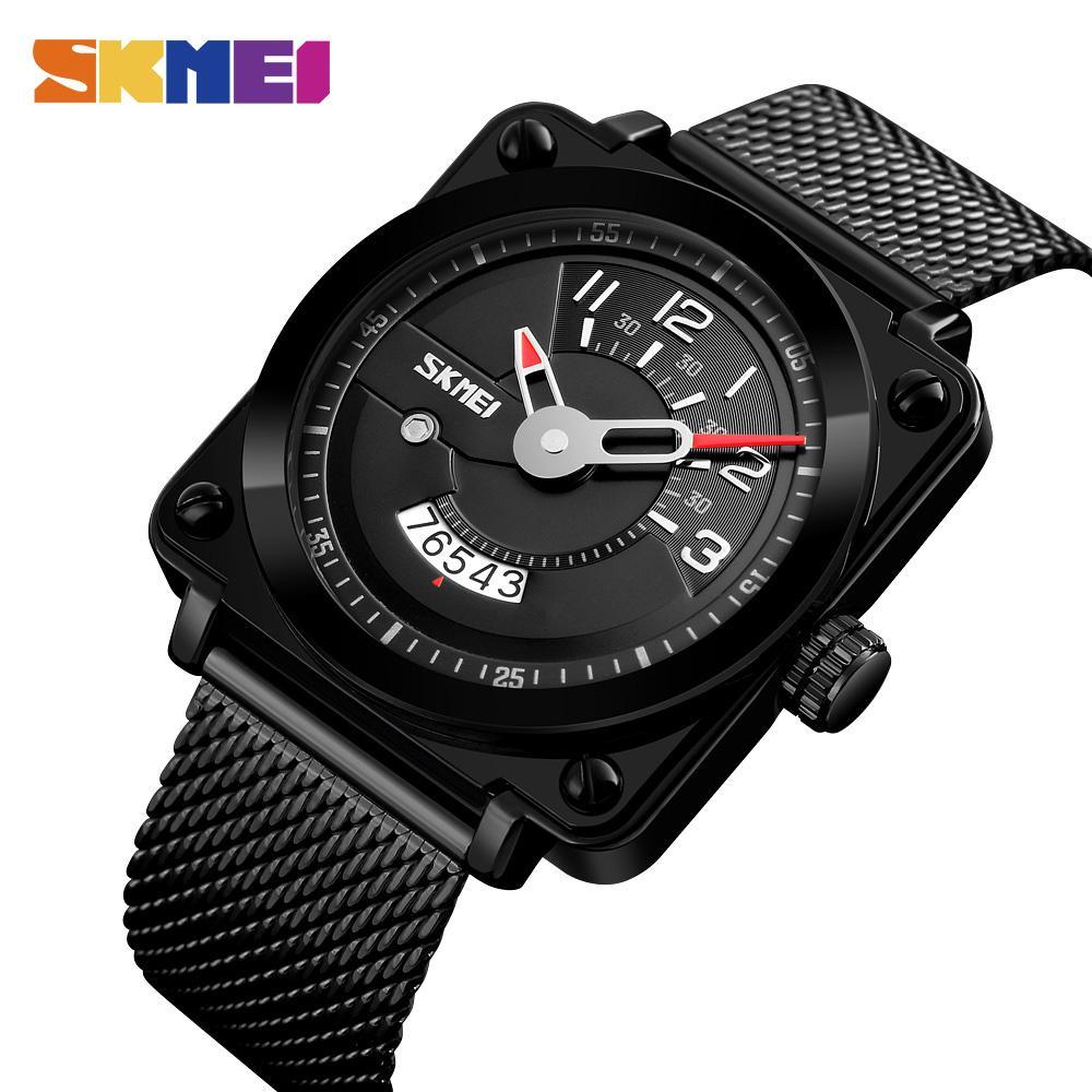 033b02ac952 Compre SKMEI Moda Homens Relógio De Quartzo De Aço Inoxidável Relógios Top  Marca De Luxo À Prova D  Água Relógio De Pulso Masculino Relogio Masculino  9172 ...