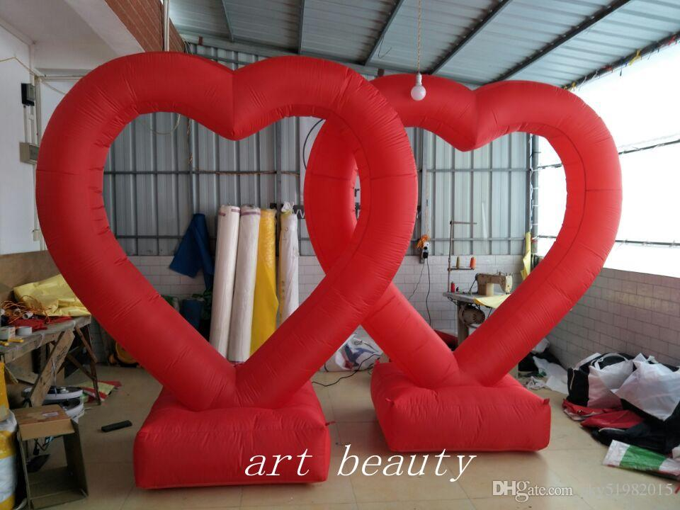 2018 Giant Inflatable Red Heart Led Lighting Decoration Inflatable Heart  Balloon For Wedding Decoration From Sky51982015, $291.46 | Dhgate.Com