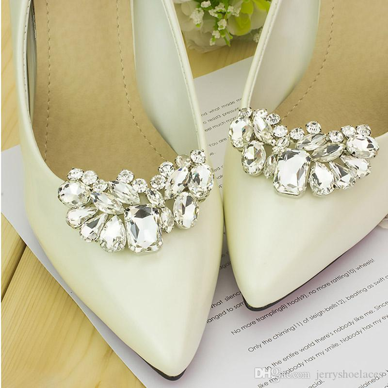 b0c8c680c 2019 Rhinestone Shoe Decoration Wedding Crystal Shoe Clips Charms Elegant Shoes  Accessories For Women S High Heels From Jerryshoelaces