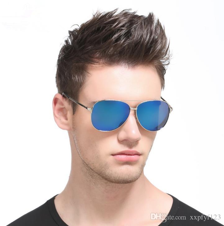 남성 eyewear drive googles 남자의 새로운 극화 된 색안경 Classic Frog Mirror 8009 Sunglasses Driving Glasses a363