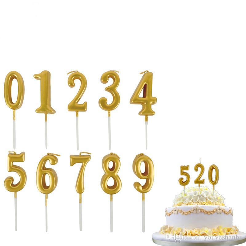 0 To 9 Golden Number Candles Creative Multicolor Smokeless Birthday Cake Decoration For Party 277 Dog Christmas Cards Greeting