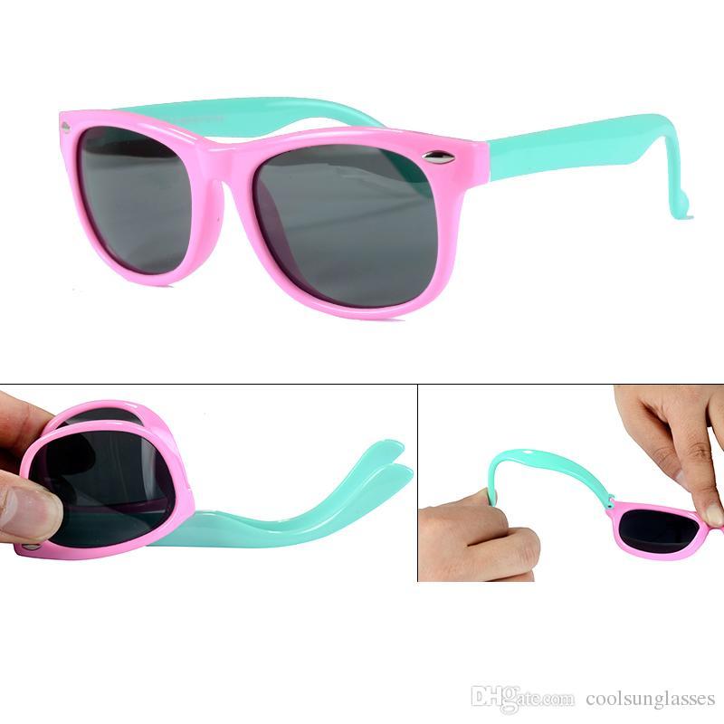 7df2b043f008 Girls Sunglasses Kids Sunglasses Children Glasses Polarized Lenses Girls  Boys Silicone Child Mirror Baby Eyewear UK 2019 From Coolsunglasses