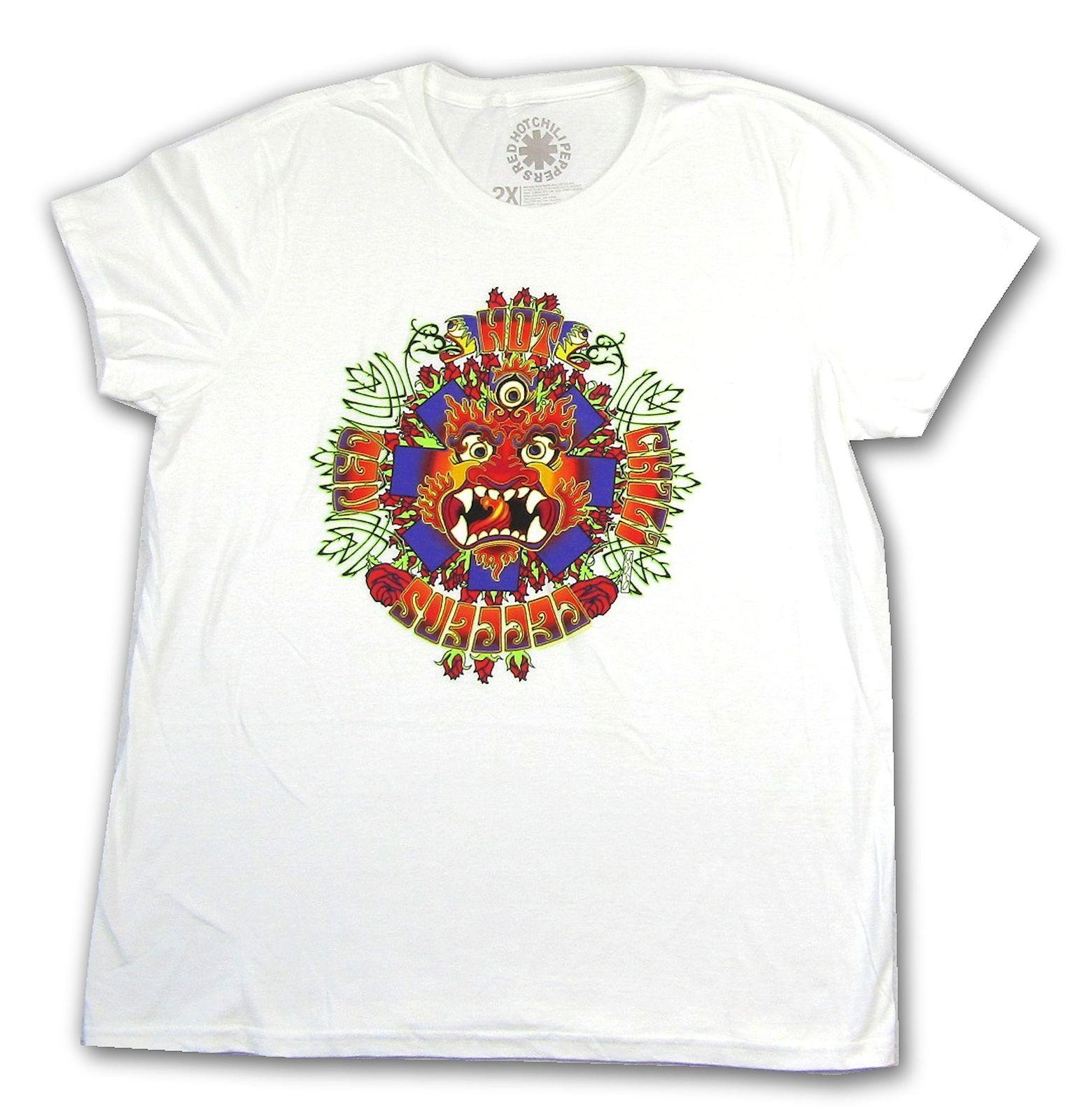 899e372f Red Hot Chili Peppers Dragon Asterisk White T Shirt New Official Band Merch  T-Shirt Novelty Cool Tops Men'S Short Sleeve T shirt