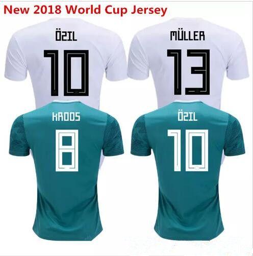 8b571c5b 2019 2018 2019 Germany Home Jersey MULLER DRAXLER OZIL KROOS Soccer Jerseys 2018  Away GOTZE HUMMELS WERNER HECTOR GORETZKA Football Shirts From Dml63245oo39  ...