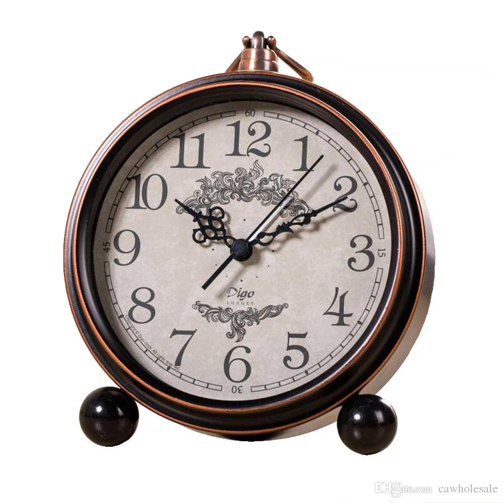 Delicieux 2018 Creative Vintage European Style Bedroom Clock, Silent Metal Alarm Clock  Suitable For Office Study Alarm Clock Bronze From Cawholesale, $19.26 |  Dhgate.