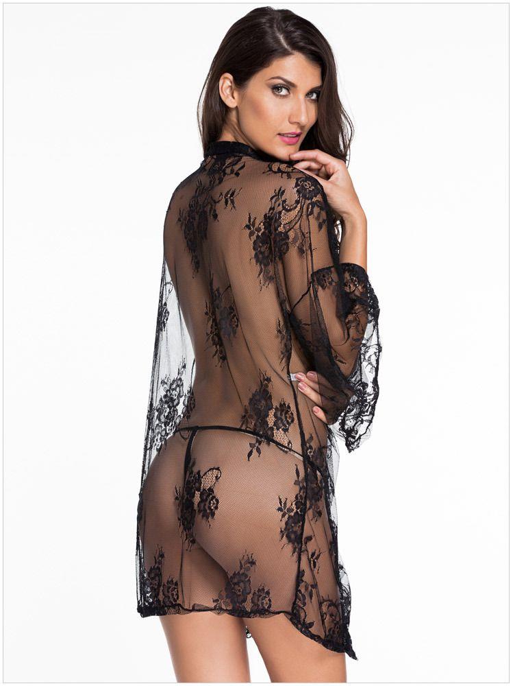 Yeni Sıcak Yüksek kalite şeffaf yarasa kollu kadın Seksi Pijama Sexy lingerie kadın Seksi Robe gecelik beyaz siyah M L XL 31018