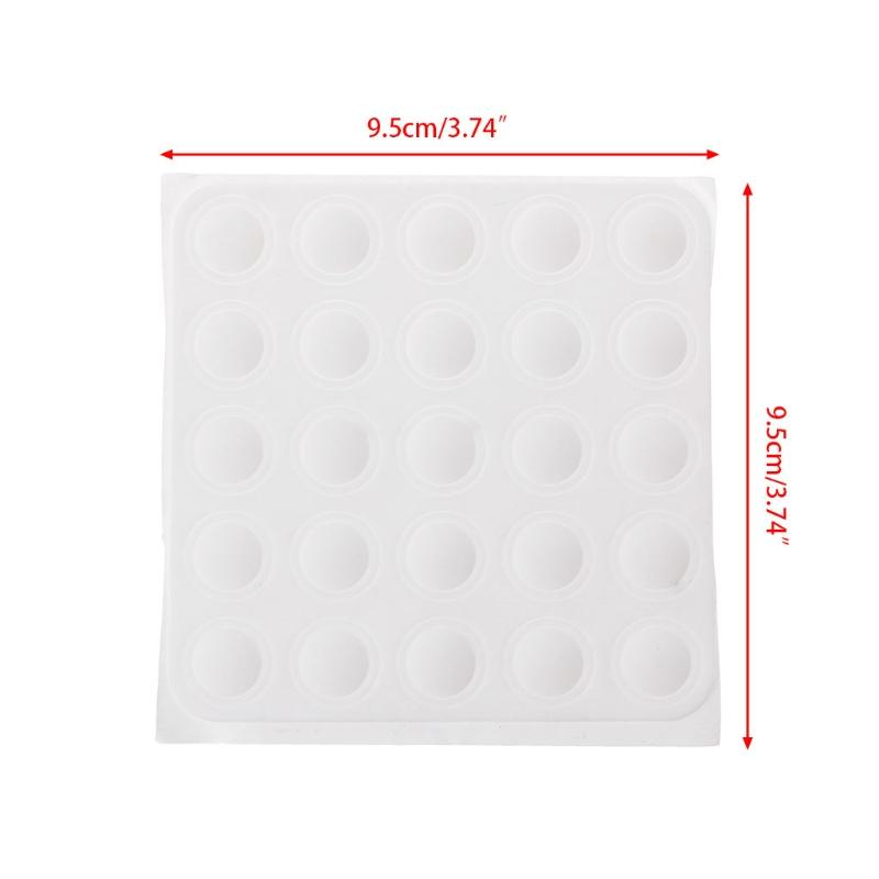 Home Color Button Uv Gel Polish Display Silicone Label Sticker Manicure Nail Art Tool