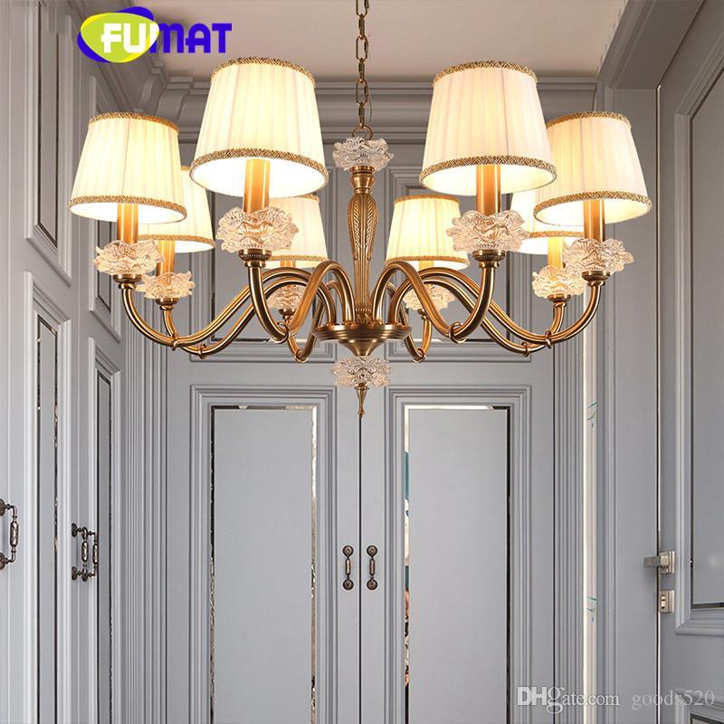 Lampadari a LED vintage Apparecchi di illuminazione Lustro in rame candelabro Sala da pranzo Foyer Camera da letto luminaria Lampadario luci casa