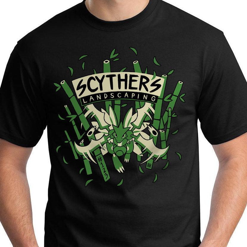 Scyther T Shirt Scyther'S Landscaping New Top Tees Style Fashion Men T  Shirts 100% Cotton Classic Male Hip Hop Funny T Shirts Online T Shirt  Printing On T ... - Scyther T Shirt Scyther'S Landscaping New Top Tees Style Fashion Men