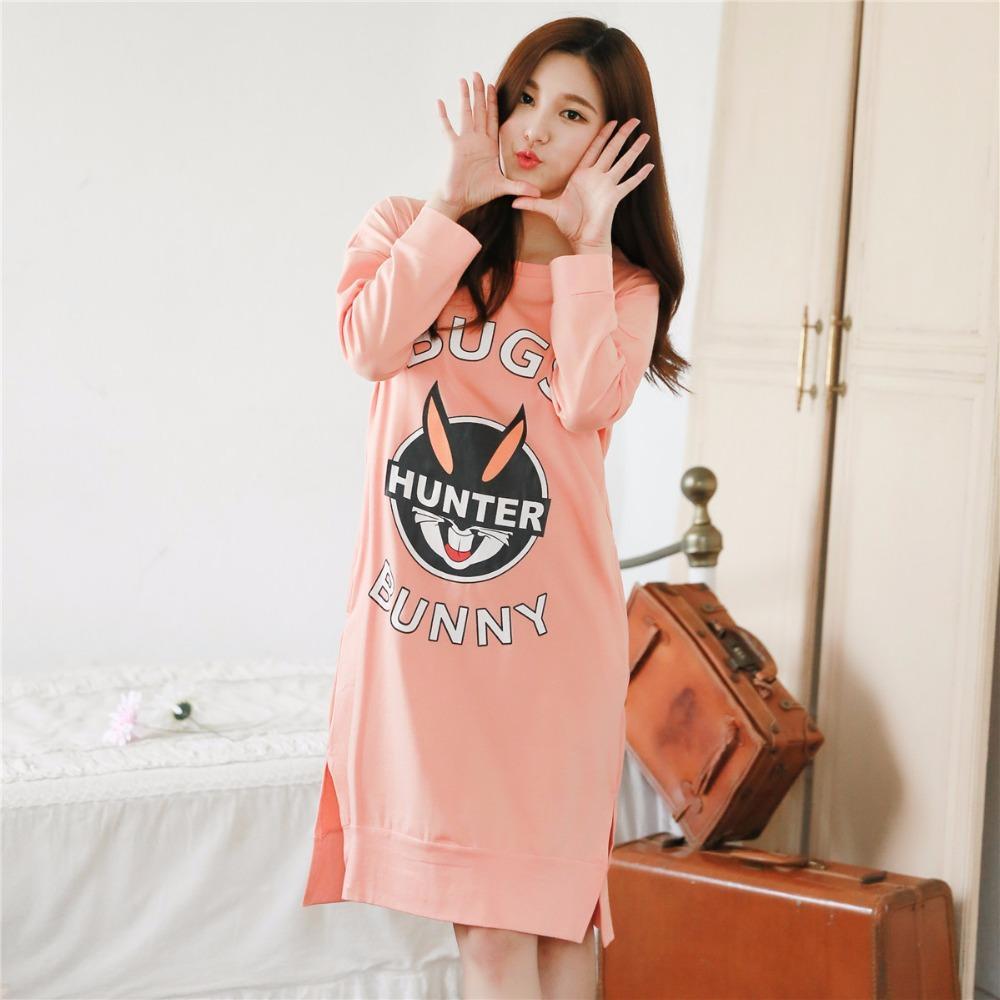Hot Sexy camisones de algodón vestido largo de noche vestido de noche Chicas lindas ropa de dormir Vestido de dormir sexy Robe ropa de dormir