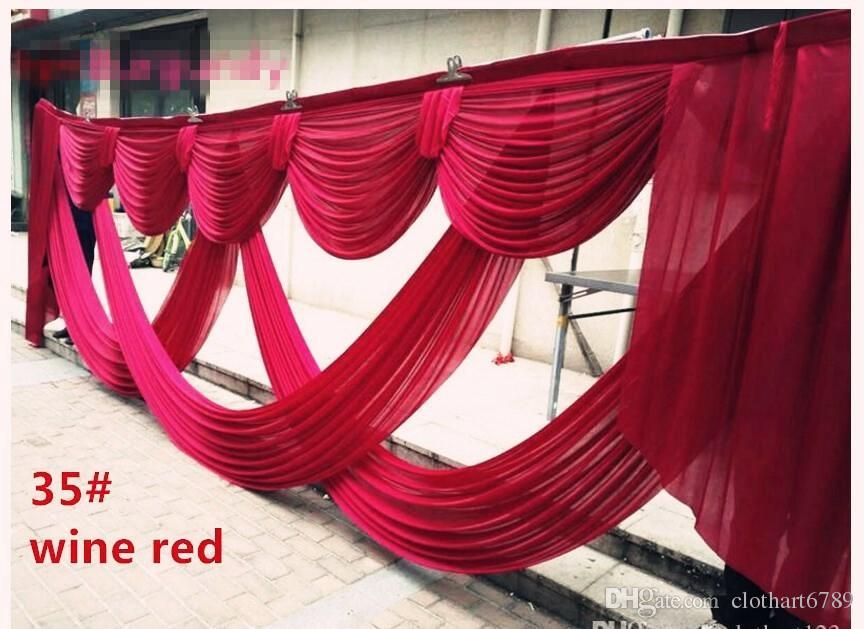 6 m larghi fiocchi di contesto valance matrimonio stylist swags Festa Tenda Celebrazione Stage Performance Disegni e drappeggi di sfondo