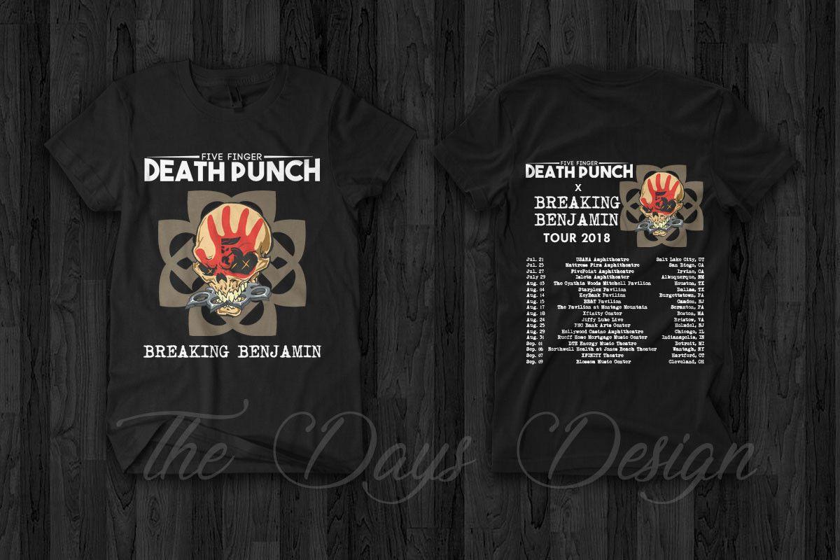 Five Finger Punch Breaking Benjamin Tour 2018 T Shirt Merch Rock Metal Custom Printed Tshirt Mens Tee Shirts Hip Hop Funny Tee Coolest Tees Awesome