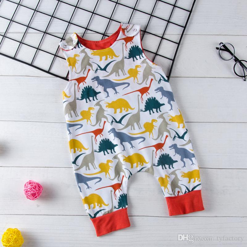e40b9e413 2019 2018 Infant Newborn Baby Boys Dinosaur Romper Jumpsuit Sleeveless  Green Kids Outfit Bodysuit Boutique Summer Casual Kid Clothing 0 18M From  Tyfactory, ...