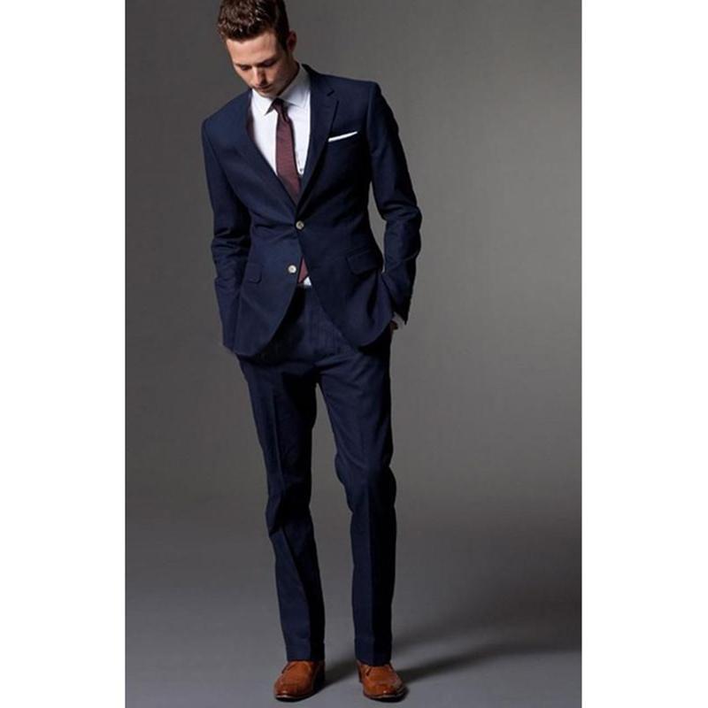 e43ec6dcd Bleu marine costume homme smokings pour hommes costume de marié costumes  pour hommes avec pantalons de mariage costumes pour hommes mousseline de ...