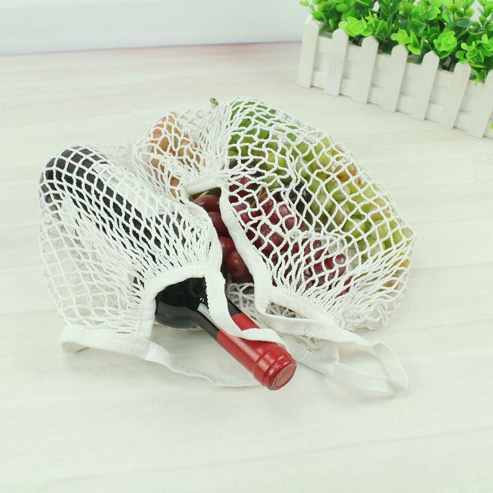 Reusable String Shopping Fruit Vegetables Grocery Bag Shopper Tote Mesh Net Woven Cotton Shoulder Bag Hand Totes Home Storage Bag WX9-365