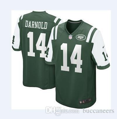 a95e234762a 14 Sam Darnold Jersey NY New York Jets 33 Jamal Adams Joe Namath ...
