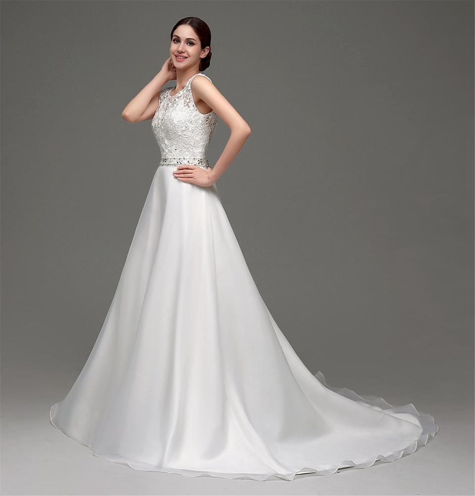 New Design A-Line Lace Wedding Dresses 2018 Backless Sexy Vintage Wedding Gowns China Online Shop 19001309