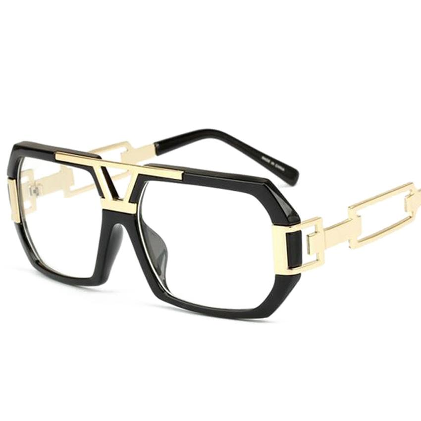 2018 Fashion Retro Glasses Optical Transparent Flat Glasses Frame ...