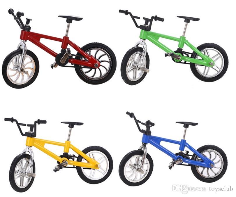i baby finger bicicletta giocattoli piccola bici in lega di plastica modello in miniatura diecast bicicletta mestiere desktop display decorazione della casa 600 pz