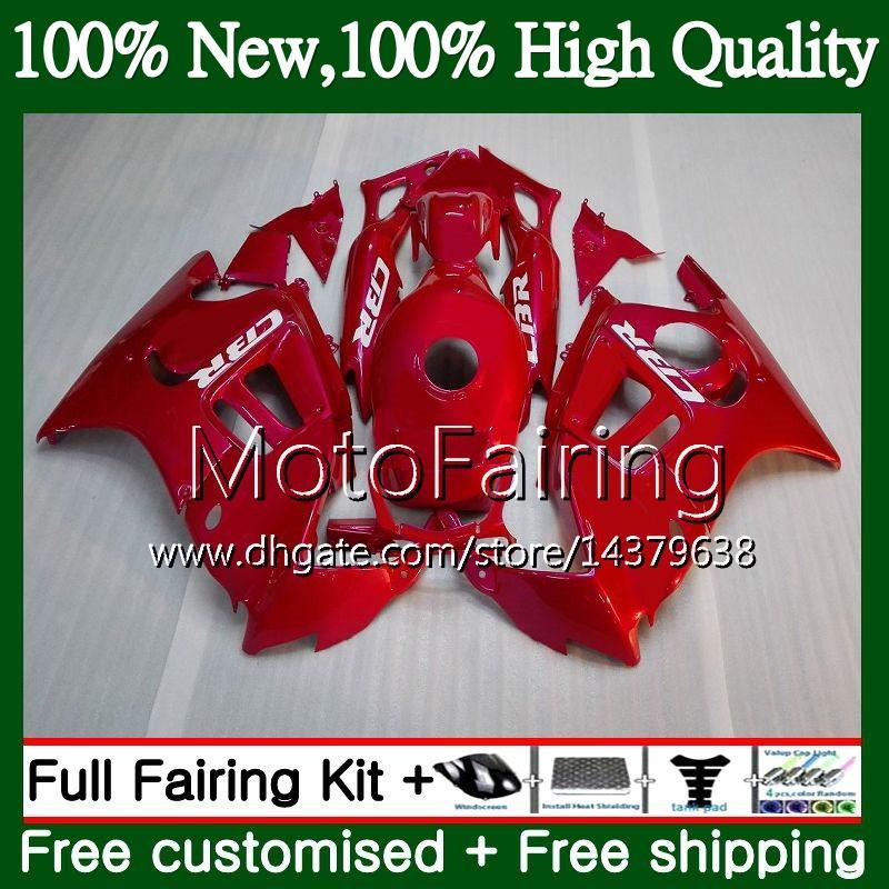 HONDA Için parlak kırmızı CBR600RR F3 CBR600FS CBR 600 F3 97 98 48MF3 CBR 600F3 FS CBR600F3 CBR600 F3 1997 1998 Kırmızı Fairing Karoser kiti