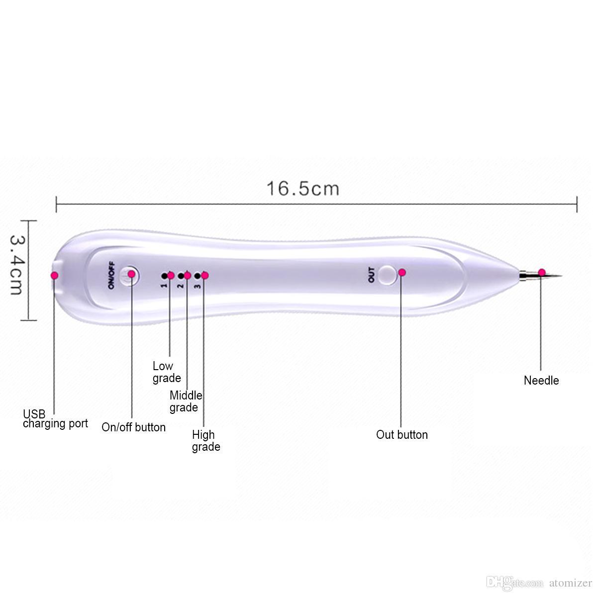 Máquina de Remoção de sardas Do Laser Toupeira Removedor de Manchas Escuras Tatuagem Remoção de Verrugas Tag Pen Salão de Beleza Em Casa Cuidados de Beleza Em Casa Dispositivo de Beleza 0609045