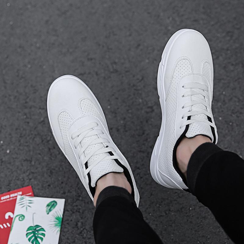 7d12323d82 2019 QEJEVI Mens Sneakers Skateboard Shoes Classic Low Top Skateboarding  Shoes Men White Anti Slippery Sneakser Sports Walk Shoe From Raisins