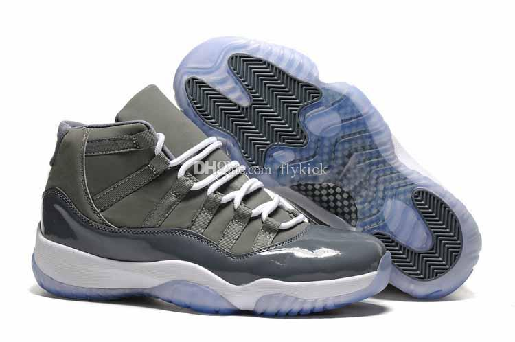 huge discount 007ef 9a081 2018 New 11s Cool Grey Bred Concord UNC 11 Midnight Navy Blue Gym Red Men  Basketball Shoes Sports Shoes