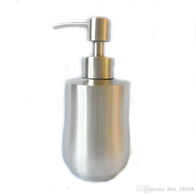 Free shipment JI-250 1Pc Lotion Pump Bottle Stainless Steel Hand Liquid soap dispenser Sink Detergent Hardware Products bathroom accessories