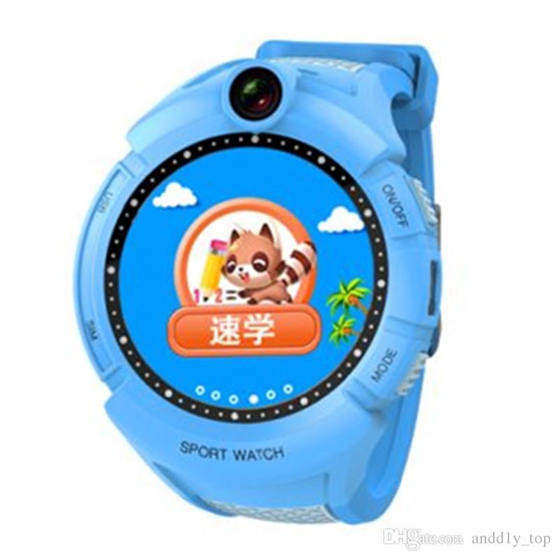 Q610 Kid Smartwatch w Ubicación de la base de la cámara Pantalla táctil Banda de muñeca infantil SOS Monitor Anti-Perdido Bebé Brecelet Reloj inteligente