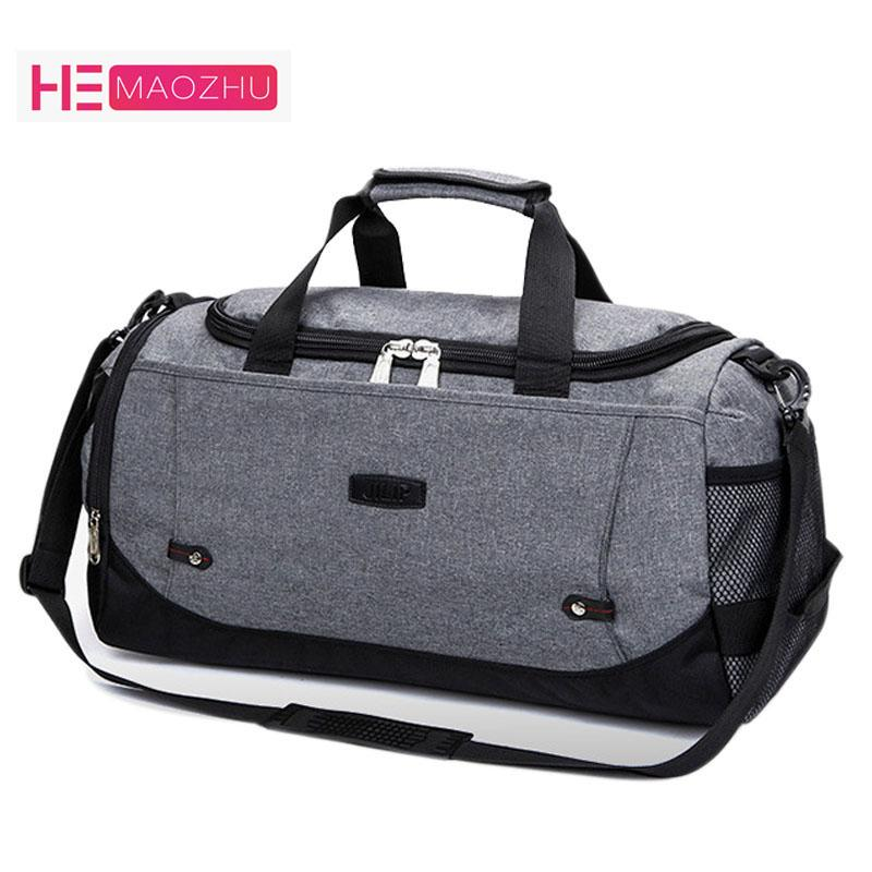 Brand Fashion Men Canvas Duffle Bags Popular Design Carry On Road Luggage  Bag Male Large Capacity Tote Weekend Travel Duffel Bag Online Bags  Waterproof Bags ... cbd45d0b54be4