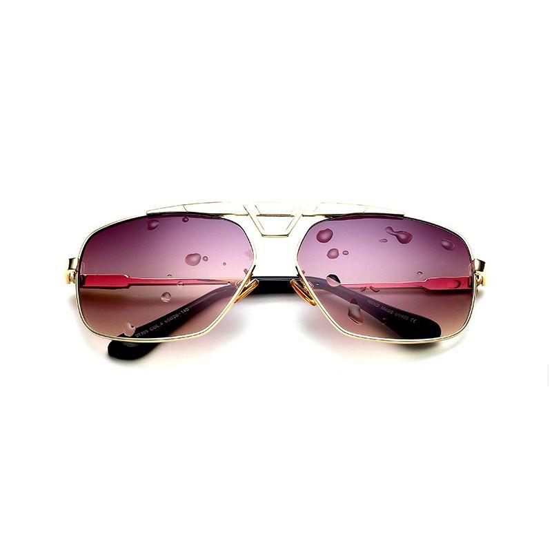 3a9fc18bbe Compre Vazrobe Gafas De Sol Para Hombre Mujer Gafas De Sol De Color Marrón  Dorado Cuadrado De Moda De Lujo Gafas De Sol De Los Hombres Lente Plana  Superior ...