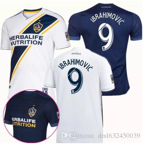 promo code f3832 a6535 Los Angeles Galaxy Soccer Jerseys 18 19 LA Galaxy Ibrahimovic ALESSNDRINI  J.DOS SANTOS GIOVANI LLETGET home away Football shirt