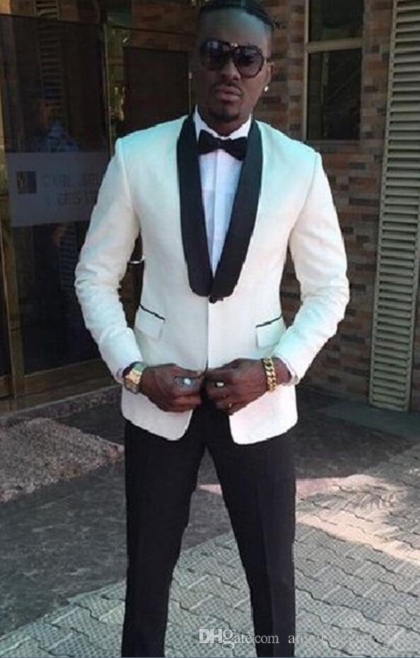bd225c4a017a Acquista Abito Da Uomo Vestito Da Sposo Bianco Vestito Da Sposo Da Uomo  Vestito Da Cerimonia Uomo Vestito Da Uomo, Due Pezzi Singoli Giacca +  Pantaloni A ...