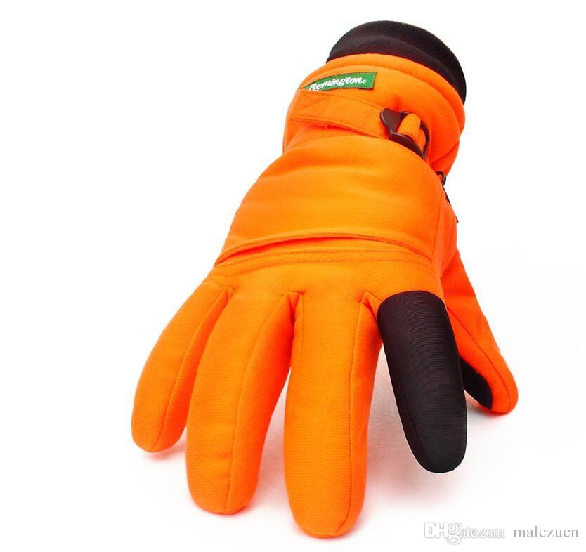 New Remington Winter Blaze Orange Hunting Gloves Outdoor Sports