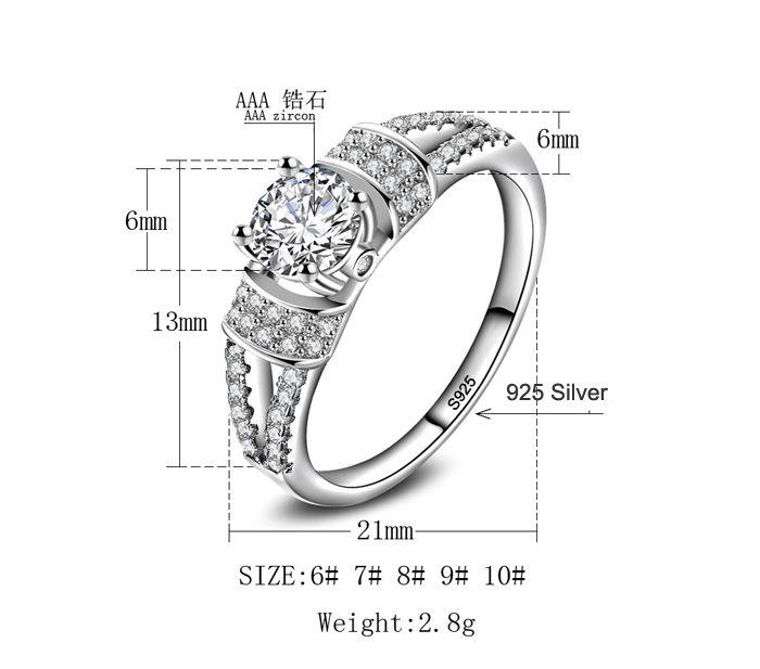 4e4c60b32472 Compre G3 Jewelry2018 Nuevos Anillos De Boda Para Mujeres Anillo De  Compromiso Real 925 Joyas De Plata 1 Ct 6 Mm Cubic Zircon CZ Anillo De  Diamantes ...