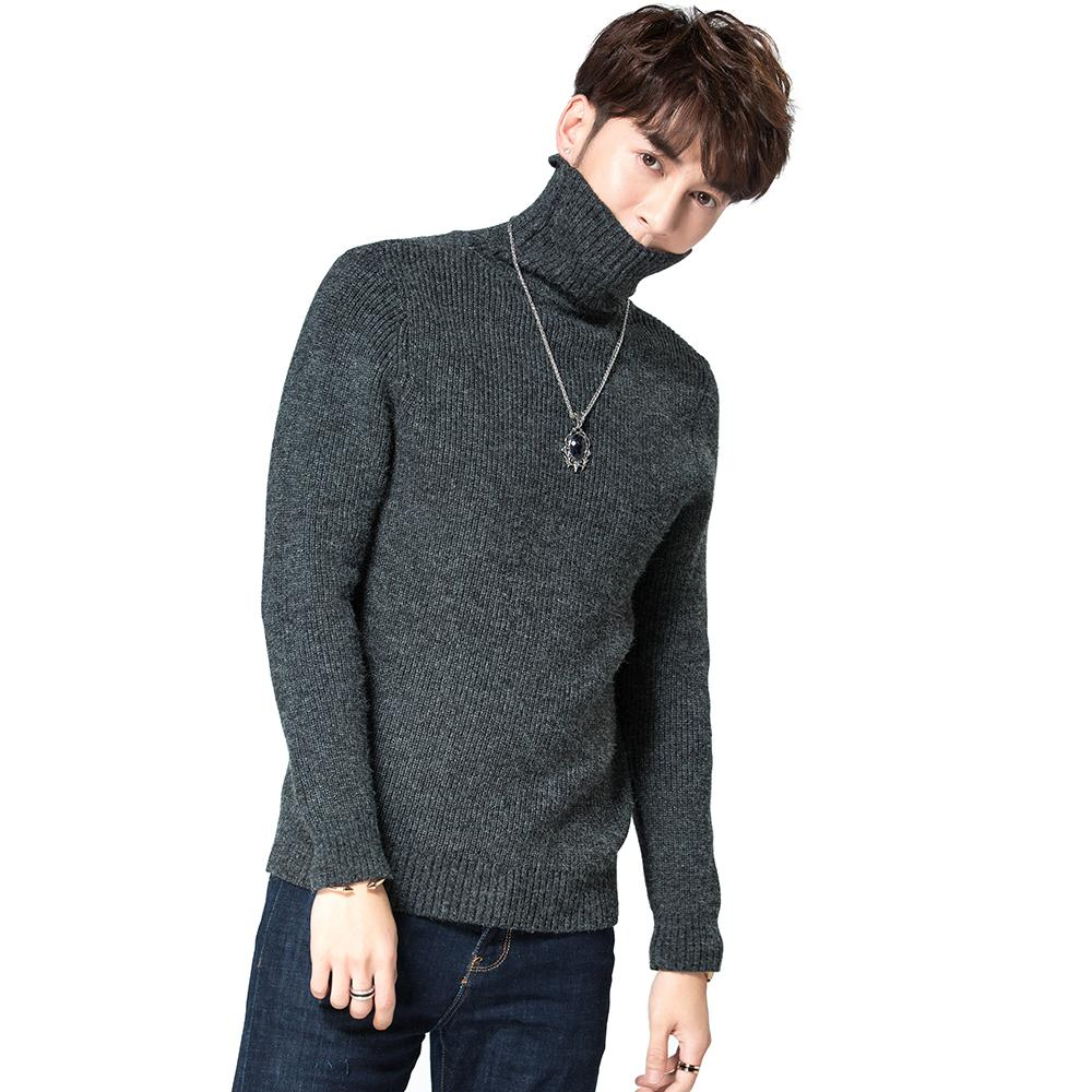 e0e49fedd1 2019 2018 Winter Thick Warm Trend Cashmere Sweater Men Turtleneck Brand  Mens Sweaters Slim Fit Pullover Men Knitwear Double Collar From Beenling