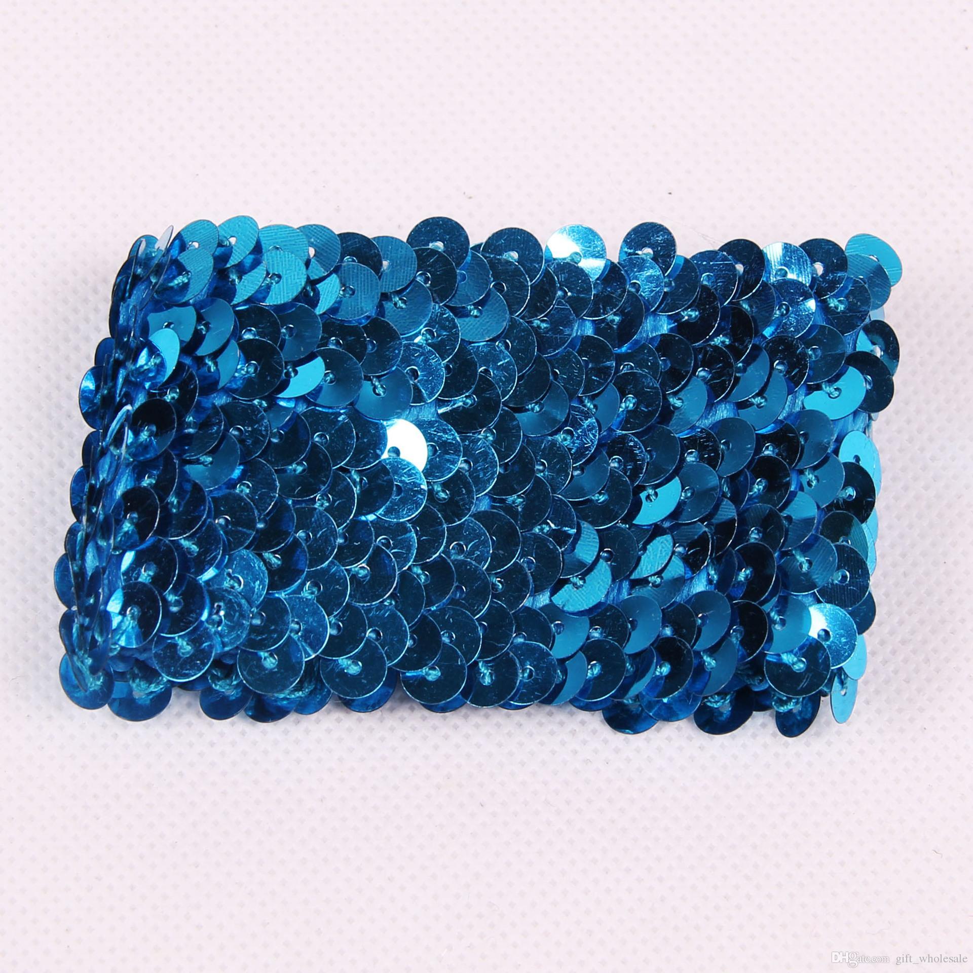 i elastici braccialetti di fascino fai da te sirena paillettes wristband glitter gioielli da sposa festa nuziale regali di natale
