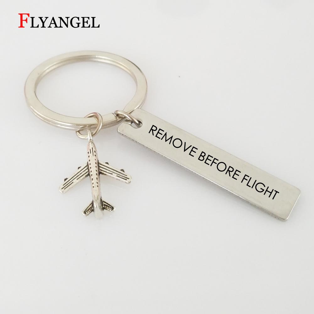 Fashion Remove Before Flight Keychain Aviation Gifts For Pilot Aviation Keychain Keyring Air Plane Pendant Key Tags Jewelry Tritium Keychain Keychains ...