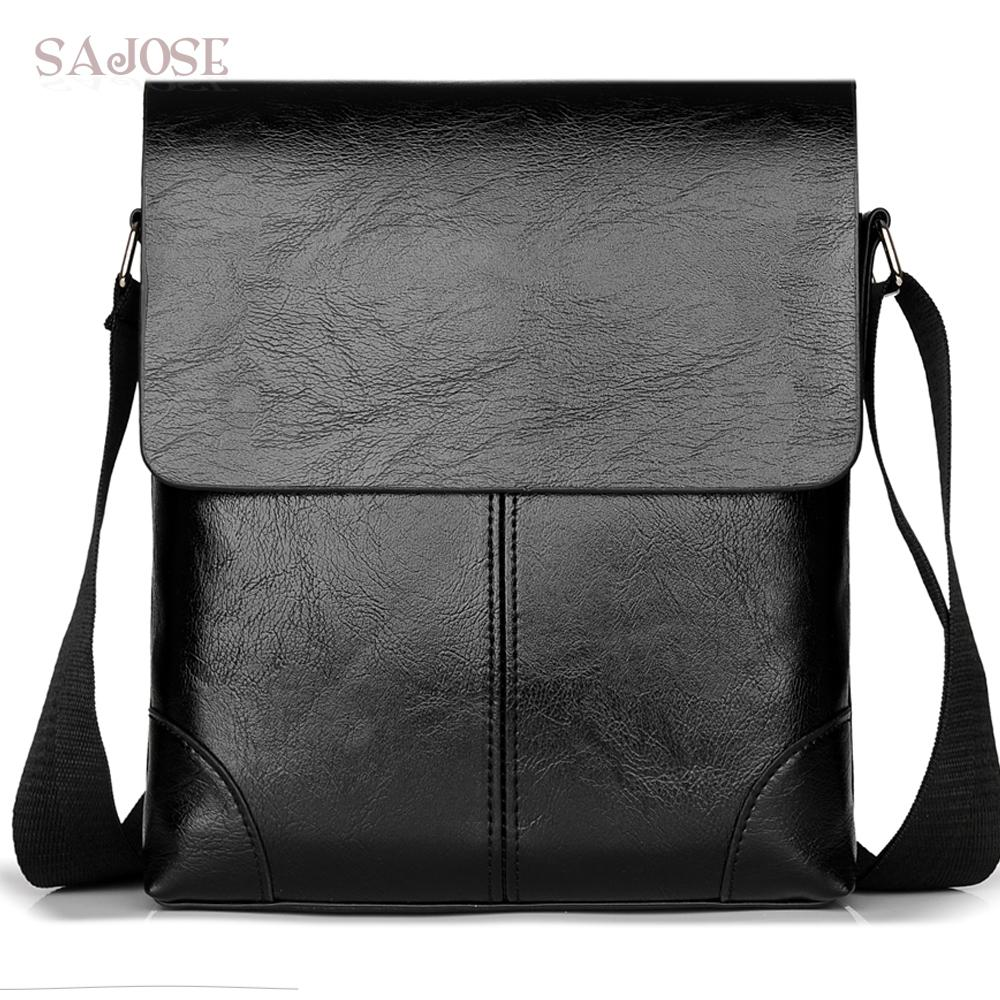 02629159bbbc Crossbody Bag For Men Leather Shoulder Bag Casual Business Male Messenger  Bags Vintage Mens Designer Black Handbag Drop Shipping Black Purses Handbags  From ...