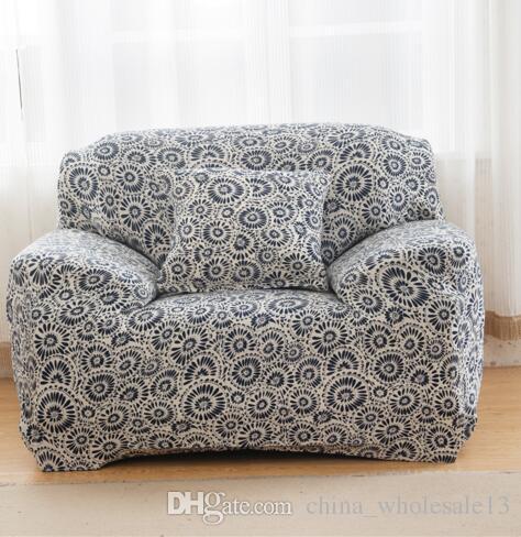 Großhandel Floral Geometic Printing Spandex Stretch Hussen Sofa