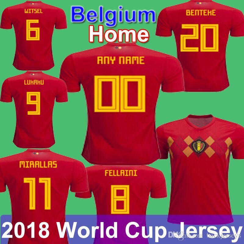 319bce59096 ... get 2018 world cup belgium soccer jersey 14 mertens football kits 10  hazard lukaku origi batshuayi